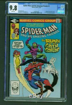 Spider-Man and his Amazing Friends 1 CGC 9.8 White 1st Firestar Marvel 1981