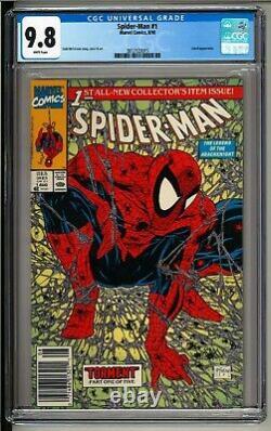 Spider-man #1 (1990) CGC 9.8 White NEWSSTAND Variant! Todd Mcfarlane Art! UPC