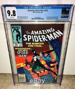 Spider-man 252 Cgc 9.8 Newsstand White Pages Venom Movie Maximum Carnage Movie
