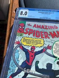 Spiderman Amazing #3 Cgc 8.0 Marvel July 1963 Off-white To White Pages Cents