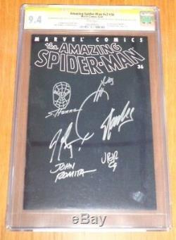 Spiderman Amazing #36 Vol 2 Cgc 9.4 White Pgs Signed X6 Sketch Lee Romita (sa)