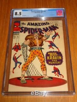Spiderman Amazing #47 Cgc 8.5 Off White To White Pages April 1967 (sa)