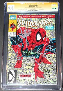 Stan Lee & Todd Mcfarlane Autograph Spider-man 1 Torment Cgc 9.8 Ss 2x White Pgs