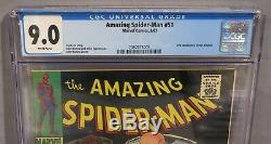 THE AMAZING SPIDER-MAN #51 (Kingpin 2nd app, White Pages) CGC 9.0 Marvel 1967