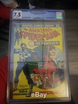 The Amazing Spider-Man #129 CGC 7.5 First Punisher Appearance White Pages