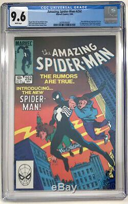 The Amazing Spider-Man #252 CGC 9.6 White Pages 1st App Black Suit Marvel Comic