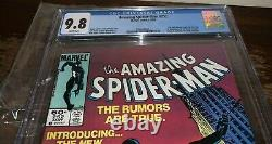The Amazing Spider-Man #252 CGC 9.8, Newsstand, White Pages