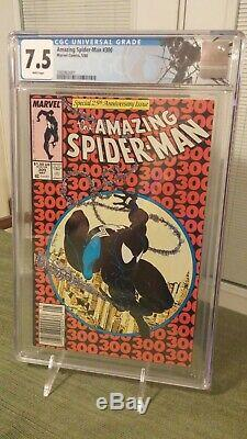The Amazing Spider-Man #300 cgc 7.5 (white pgs) 1988 first appearance of Venom
