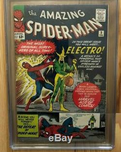 The Amazing Spider-Man #9 Feb 1964 CGC 4.0 WHITE pages 1st app. Of Electro