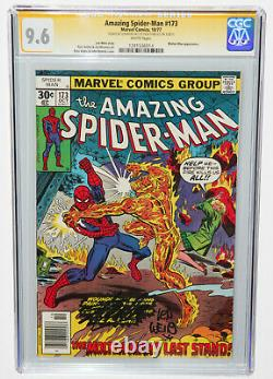 The Amazing Spider-man #173 Cgc Ss 9.6 Signed 2x By Stan Lee & Len Wein White Pg
