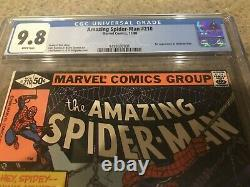The Amazing Spider-man #210 Cgc 9.8 - White Pages! 1st Madame Web Denny O'neil