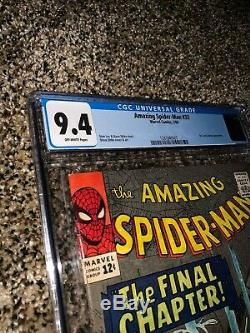 The Amazing Spider-man #33 Cgc 9.4 - Off -white Pages! Stan Lee Steve Ditko