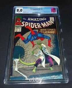 The Amazing Spider-man # 44 1967 CGC 8.0 White Pages