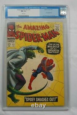 The Amazing Spiderman #45 Cgc 9.2 White Pages! Lizard Appearance