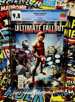 Ultimate Fallout #4 2nd Print Cgc 9.8 White Pages 1st Miles Morales (10/2011)