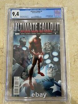 Ultimate Fallout #4 CGC 9.4 NM- white pages 1st print MILES MORALES