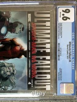 Ultimate Fallout #4 CGC 9.6 White 1st Print First Miles Morales 3711813010A1 MCU