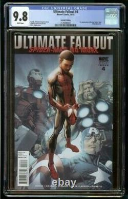 Ultimate Fallout #4 CGC 9.8 2nd print 1st MILES MORALES White Pages