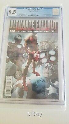 Ultimate Fallout #4 CGC 9.8 white 1st Miles Morales Spider-man 1st Printing