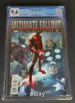 Ultimate Fallout #4 Cgc 9.6 White Pages (first Appearance Of Miles Morales)
