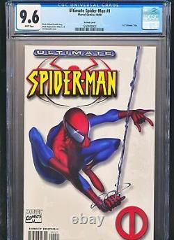 Ultimate Spiderman 1 White Variant Cover CGC 9.6 Spider-man