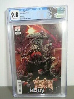 Venom #3 CGC 9.8 White pages 3rd print Variant Knull 1st full app, Very Hot