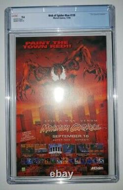 Web of Spider-Man #118 CGC 9.6 White Pages 1st Solo Clone Story 1994