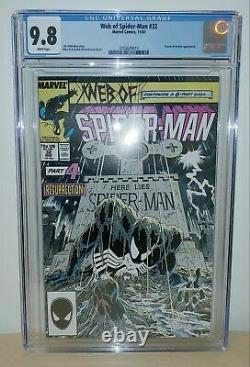 Web of Spider-Man #32 CGC 9.8 White Pages Kraven Appearance