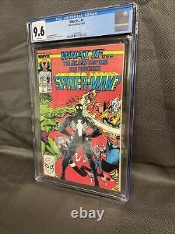 What If #4 CGC 9.6 White Pages 1989 Second Series Black Costume Venom