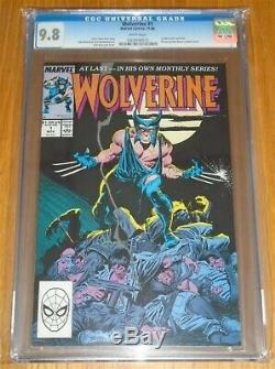 Wolverine #1 Cgc 9.8 Marvel Nov 1988 White Pages 1st Wolverine As Patch (sa)